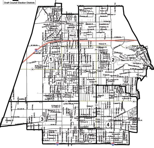 Upland map