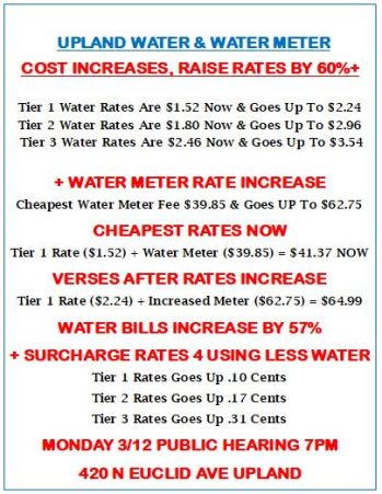WATER RATES ARE ABOUT TO GO UP OVER 60% ON MARCH 12th, AS