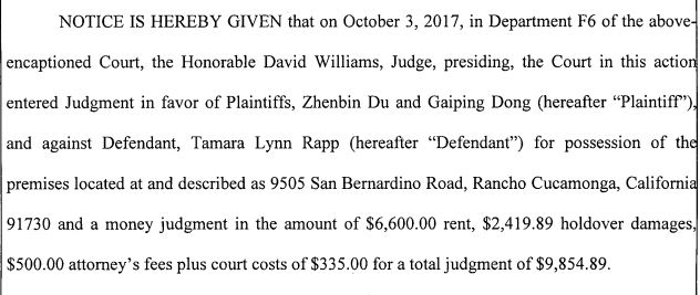 Rapp judgment