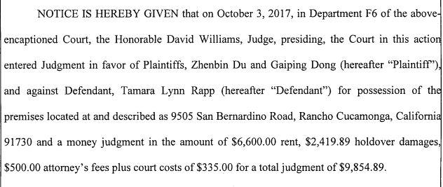 Rapp judgment