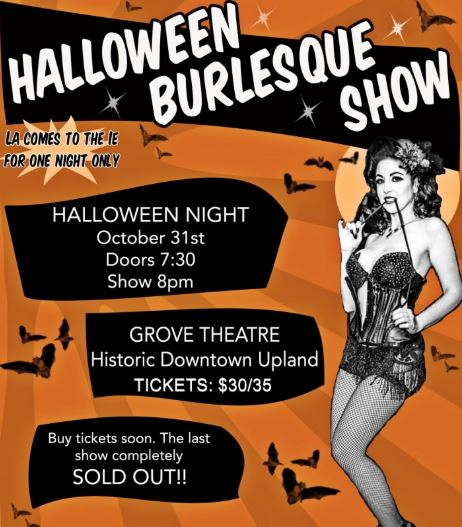 Tammy Rapp Halloween Burlesque Show Flyer