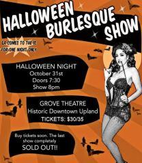 Tammy Rapp Halloween Burlesque Show Flyer
