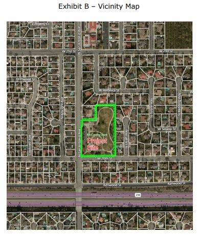 McCarthy Park map