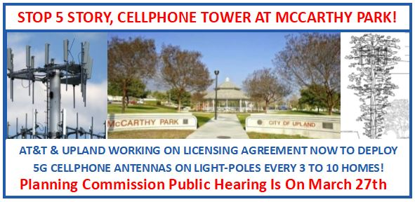 UPDATE: Cellphone Tower At McCarthy Park Tabled Until 3/27