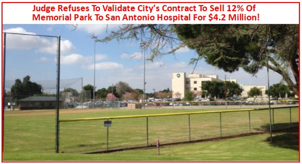 Judge Refuses To Validate Upland's Contract To Sell 12% Of Memorial Park To San Antonio Hospital For $4.2 Million & Judge Dismisses Upland's case! Will This Lead To Upland & The Hospital Terminating Their Existing Purchase Agreement?